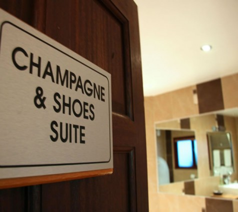 Champagne and Shoes Room Entrance