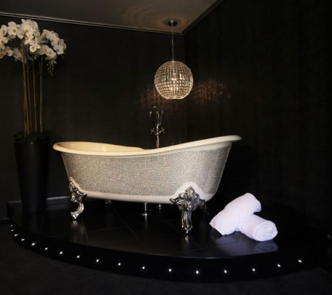 Ace Of Spades Swarovski crystal Manhattan bath